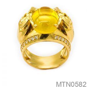 Nhẫn Nam Vàng Vàng 14K Đính Đá CZ - MTN0582