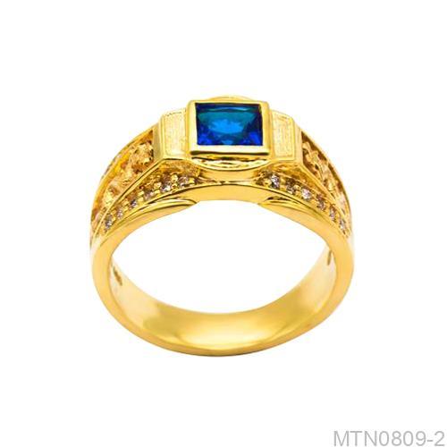 Nhẫn Nam Vàng Vàng 18k - MTN0809-2