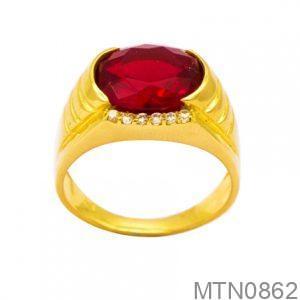 Nhẫn Nam Vàng 18k Đính Đá CZ - MTN0862