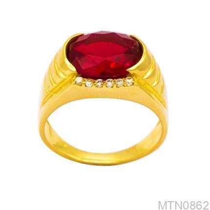 Nhẫn Nam Vàng Vàng 18k Đính Đá CZ - MTN0862