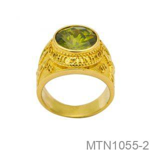 Nhẫn Nam Vàng Vàng 18K Đính Đá CZ - MTN1055-2
