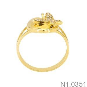 Nhẫn Nữ Vàng Vàng 18K - N1.0351