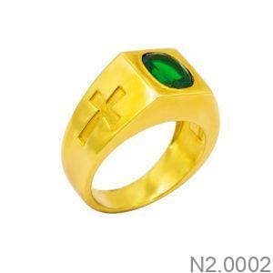Nhẫn Nam Vàng Vàng 18k Đính Đá CZ - N2.0002