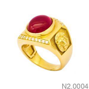 Nhẫn Nam Vàng 18K Đính Đá CZ - N2.0004