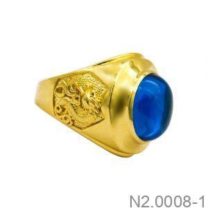 Nhẫn Nam Vàng Vàng 18K Đính Đá CZ - N2.0008-1