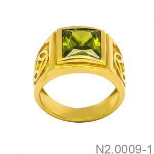 Nhẫn Nam Vàng 18k Đính Đá CZ - N2.0009-1