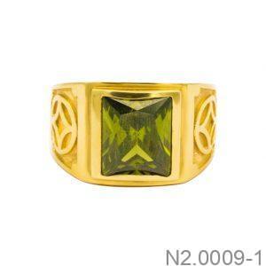 Nhẫn Nam Vàng Vàng 18k Đính Đá CZ - N2.0009-1