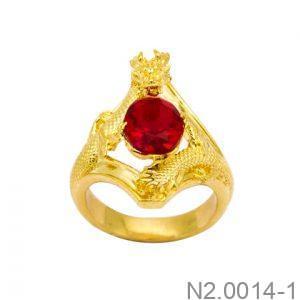 Nhẫn Nam Vàng Vàng 18K Đính Đá CZ - N2.0014-1