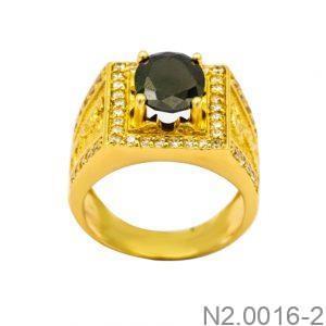 Nhẫn Nam Vàng Vàng 18K Đính Đá CZ - N2.0016-2