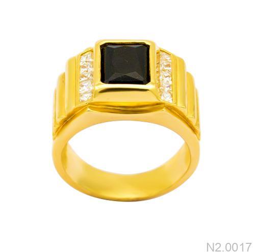 Nhẫn Nam Vàng Vàng 18K Đính Đá CZ - N2.0017