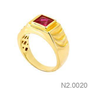 Nhẫn Nam Vàng Vàng 18k - N2.0020