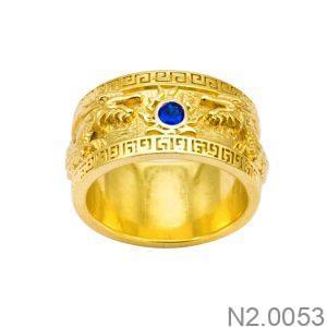 Nhẫn Nam Vàng 18K Đính Đá CZ - N2.0053