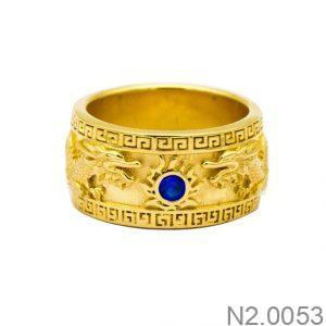 Nhẫn Nam Vàng Vàng 18K Đính Đá CZ - N2.0053
