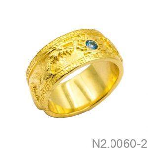 Nhẫn Nam Vàng Vàng 18K Đính Đá CZ - N2.0060-2