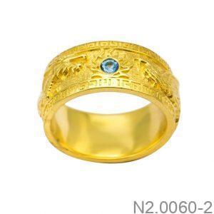 Nhẫn Nam Vàng 18K Đính Đá CZ - N2.0060-2