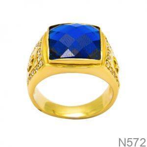Nhẫn Nam Vàng Vàng 18K Đính Đá CZ - N572