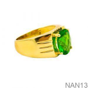 Nhẫn Nam Vàng Vàng 18K Đính Đá CZ - NAN13