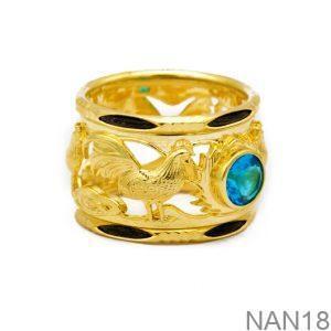 Nhẫn Nam Vàng Vàng 18K Đính Đá CZ - NAN18