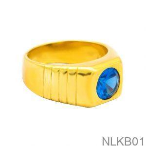 Nhẫn Nam Vàng Vàng 18K Đính Đá CZ - NLKB01