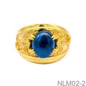 Nhẫn Nam Vàng Vàng 18K - NLM02-2