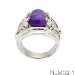 Nhẫn Nam Vàng Trắng 10k - NLM02-1