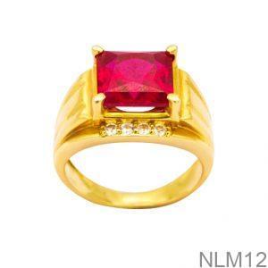 Nhẫn Nam Vàng Vàng 18K Đính Đá CZ - NLM12