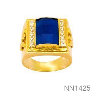 Nhẫn Nam Vàng 18K Đính Đá CZ - NN1425