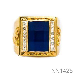 Nhẫn Nam Vàng Vàng 18K Đính Đá CZ - NN1425