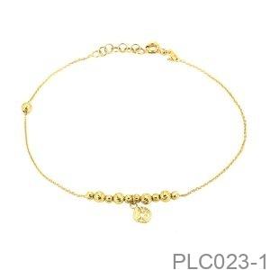 Lắc Chân Vàng Vàng 18K - PLC023-1