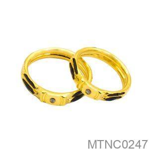 Nhẫn Cưới Vàng Vàng 18k Đính Đá CZ - MTNC0247