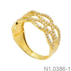 Nhẫn Nữ Vàng Vàng 18K Đính Đá CZ - N1.0386-1
