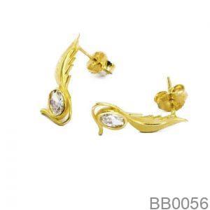 Bông Tai Vàng 18K Đính Đá CZ - BB0056