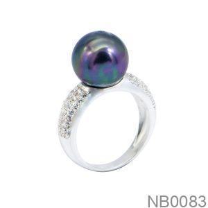Nhẫn Nữ Vàng Trắng 10K Đính Đá CZ - NB0083