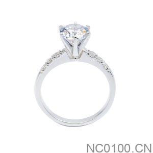 Nhẫn Nữ Vàng Trắng 10K Đính Đá CZ - NC0100.CN