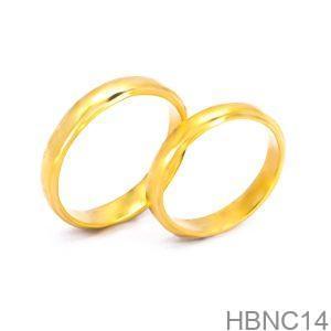 Nhẫn Cưới Vàng Vàng 18k - HBNC14