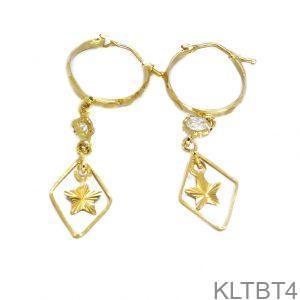 Bông Tai Vàng 18K Đính Đá CZ - KLTBT4