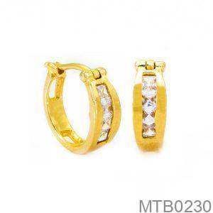 Bông Tai Vàng 10K Đính Đá CZ - MTB0230
