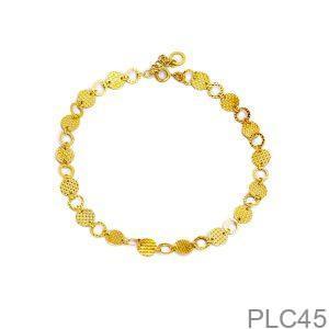 Lắc Chân APJ Vàng Trắng 18K - PLC45