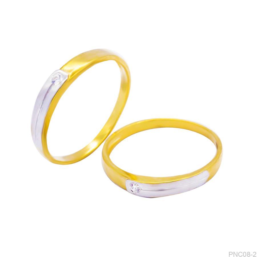 Nhẫn cưới 2 màu PNC08-2-2