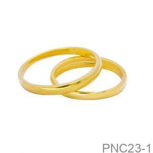 Nhẫn Cưới Vàng Vàng 10K - PNC23-1