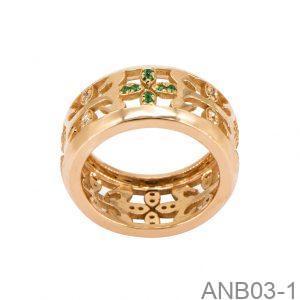 Nhẫn Nam Vàng Vàng 18K Đính Đá CZ - ANB03-1