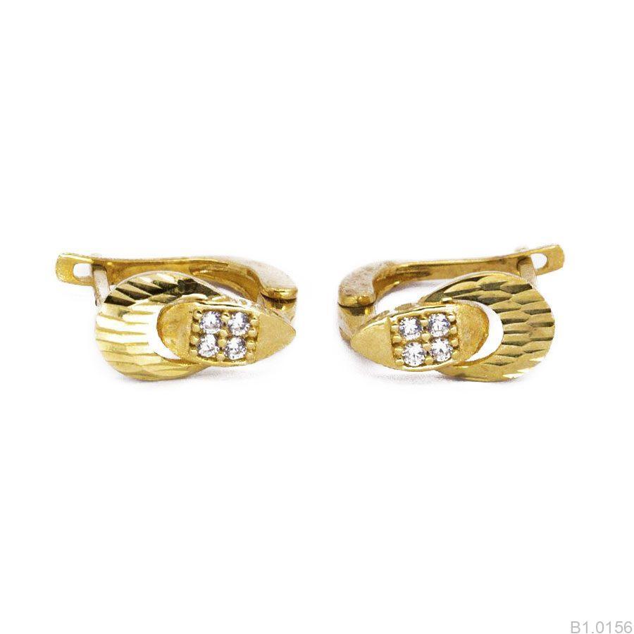 Bông Tai Vàng 18K Đính Đá CZ - B1.0156