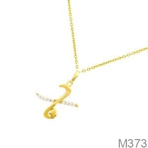 Mặt Dây Chuyền Vàng 18K Đính Đá CZ - M373