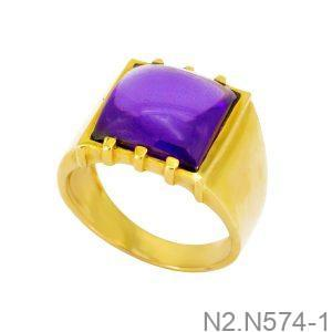 Nhẫn Nam Vàng Vàng 18K Đính Đá CZ - N2.N574-1