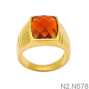 Nhẫn Nam Vàng Vàng 18K Đính Đá CZ - N2.N578