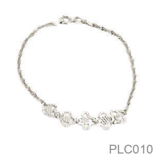 Lắc Chân APJ Vàng Trắng 10k - PLC010