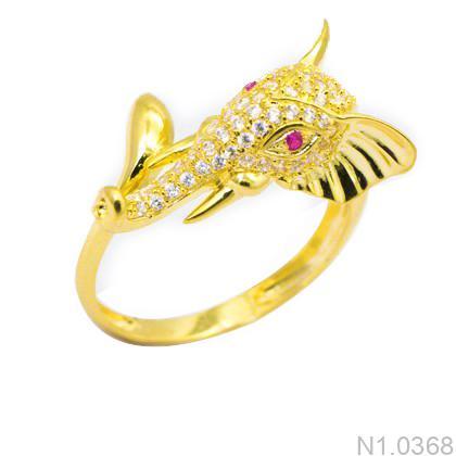 N1.0368-1 Nhẫn nữ hình voi vàng 18k
