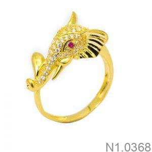 Nhẫn Nữ Vàng 18K Đính Đá CZ - N1.0368