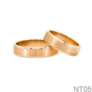 Nhẫn Cưới Vàng Hồng 18k - NT05