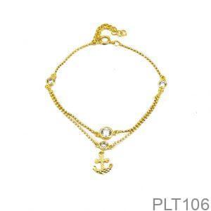 Lắc Tay Vàng Trắng 18K - PLT106
